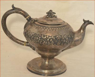 Sam L Kirk Coin Silver Tea Pot Circa 1835 Nice Early Example Estate Find