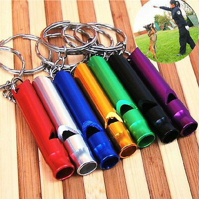 1~5X Metal Sports Whistle Portable Small Size Pet Supply Key-chain Dog Training