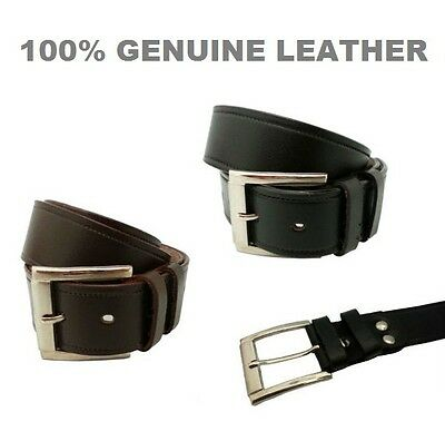 Real Genuine Leather Mens Stylish Jeans Trouser Waist Belt Casual Design