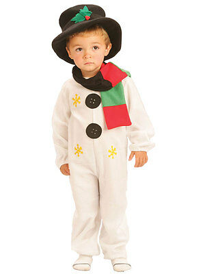 Snowman Kids Fancy Dress Christmas Party Costume Boys Girls Child 2-7 Years New