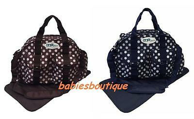 CLEARANCE Polka Dot Baby Nappy Changing Bags Hospital Diaper Bag Waterproof 9002