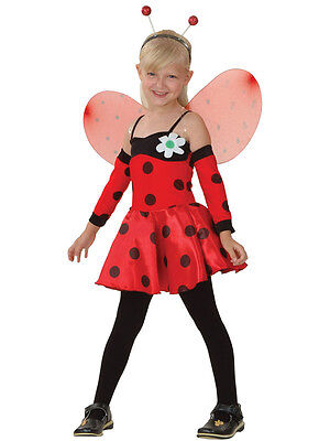 Boys Girls Kids Ladybug Ladybird Insect Bug Ball Party Fancy Dress Costume