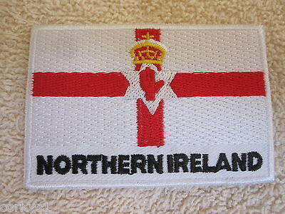 Northern Ireland Flag Patch...Quality Embroidered Northern Ireland Flag Patch