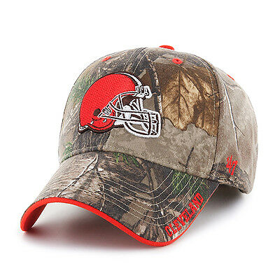 quality design 16593 91652 Cleveland Browns 47 Brand Clean Up Hat Adjustable Cap RealTree Frost