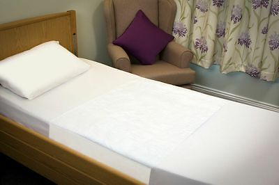 Community White Washable Stay Dry Single Bed Pad 70 x 85 cms With Tuck In Flaps
