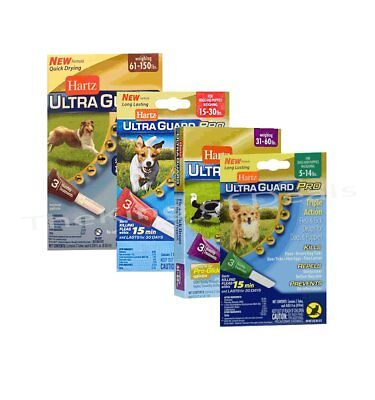 Hartz UltraGuard Pro Flea & Tick Drops for Dogs and Puppies (Select Weight)
