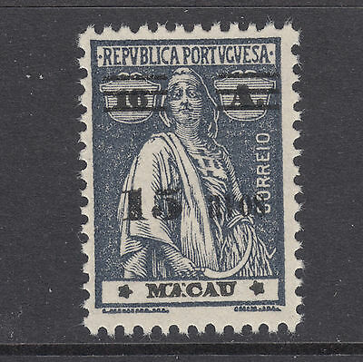 Macao Sc 266 MNH. 1933 15a surcharge on 16a dark gray Ceres, fresh, F-VF