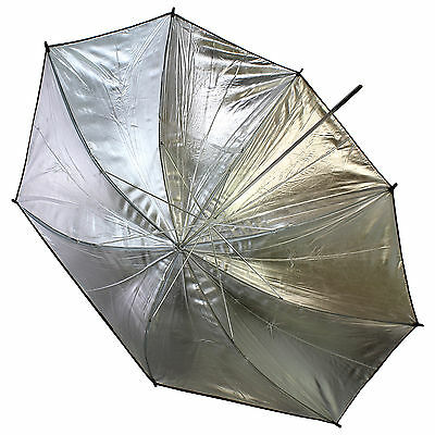"33""/83cm Black Silver Reflector Soft Umbrella Photo Strobe Flash Light Studio"