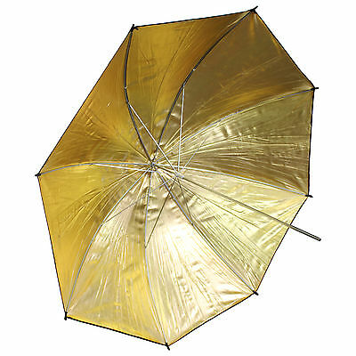 "33""/83cm Gold Black Reflector Soft Umbrella Diffuser Photo Flash Lighting Studio"