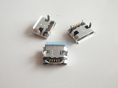 10X  Micro USB Type B Female 5 pin SMD Horns 4 Legs DIP Ejector Socket Connector