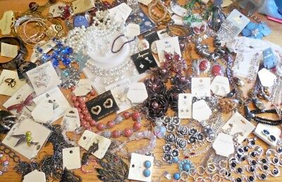 60 pc Jewelry Lot collection new 8+ lbs necklaces bracelets sets earrings pins