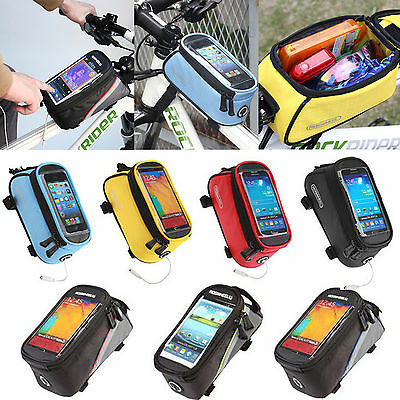 Bicycle Bike Cycling Pouch Frame Front Tube Purse Mobile Phone Case Holder Bag