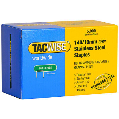 Tacwise 0477 Type 140 Series Stainless Steel Staples 10mm - 5000 Pack