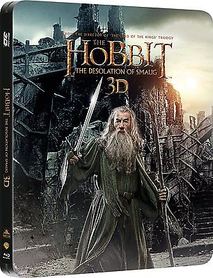 The Hobbit The Desolation Of Smaug Blu-ray 3D Limited Edition Steelbook UK NEW