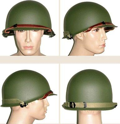 Wwii Us Army M1 Green Helmet