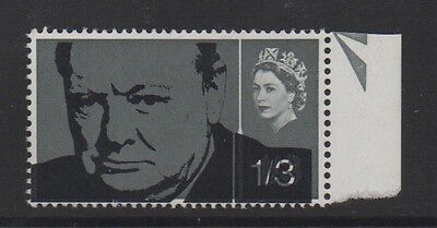 1965 Winston Churchill. 1s 3d with spectacular black shift. Unmounted mint.