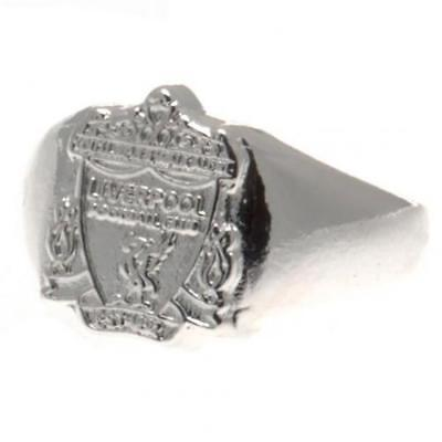 Official Licensed Football Club Liverpool Silver Plated Crest Ring Medium Gift