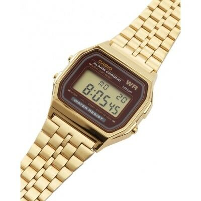 Casio Unisex Retro Digital Quartz Gold Tone Stainless Steel Watch A159WGEA-5