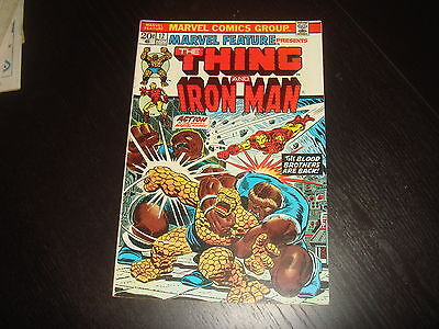 MARVEL FEATURE #12 The Thing vs Iron Man Thanos  Starlin Marvel Comics 1973 - NM