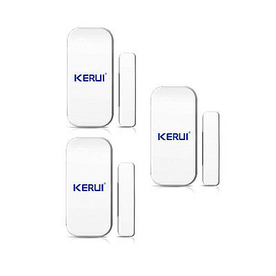 3X Magnetic Window Door Wireless Sensor Alarms Burglar Intruder Safety Security