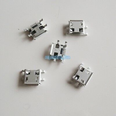 10X Micro USB Type B Female 5 Pin DIP Socket Connector 4 Right Angle Legs PCB