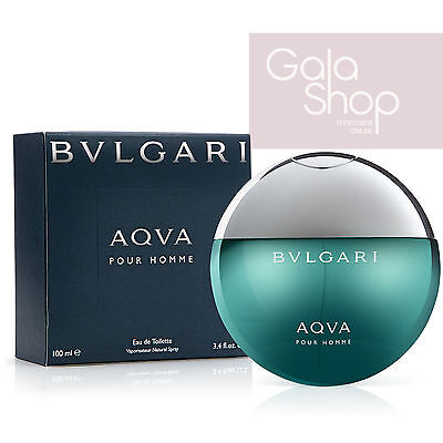 Bulgari Aqua 100Ml Eau De Toilette Natural Spray Profumo Uomo Edt
