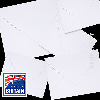 White Quality 100gsm Square Envelopes = 4 inch 5 inch 6 inch - 105mm 130mm 155mm