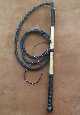4ft nylon synthetic stock whip stockwhip