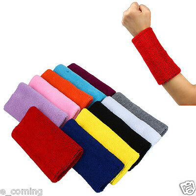 Mens Womens Gym Sweat Band Sports Wristband Basketball Arm Band Tennis Yoga