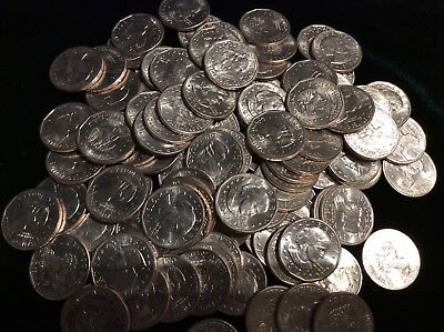 50 Eisenhower Silver Dollars,  Ike $$  For Your Slot Machine Low Grade.