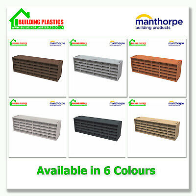 "MANTHORPE AIRBRICK 9""x3"" TERRACOTTA - GREY - WHITE - BROWN - BLUE/BLACK - BUFF"