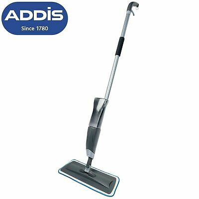 Addis Mop & Go Floor Cleaner Spray Mop With Microfiber Cleaning Pad Metallic New