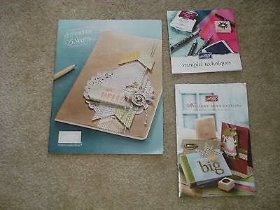 Stampin Up Inspiration Techniques Ideas Catalogs Booklets Lot Of 3