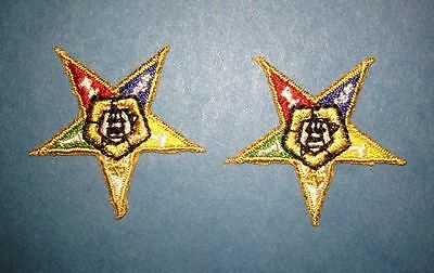 2 Lot Masonic Freemasons Order Of The Eastern Star Hat Jacket Patches Crests G