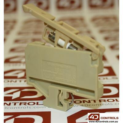 WEIDMULLER ASK1, G SECTION STYLE DIN RAIL, FUSED TERMINAL, CREAM, 500V 4mm2 6...