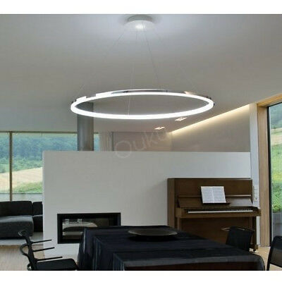 Modern Light Ring Nature Acrylic LED Ceiling Pendant Lamp Fixture Chandelier NEW