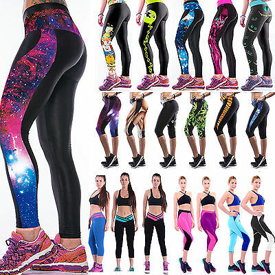 2016 Womens Yoga Gym Cropped Leggings Running Fitness Sports Trousers Long Pants