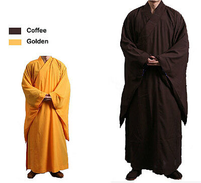 Shaolin Monk Buddhist Robe Kung Fu Jacket Martial arts Linen Uniform