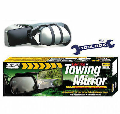 Towing Mirror Universal Fixing Single Towing Mirror (CONVEX) Caravans / Trailers