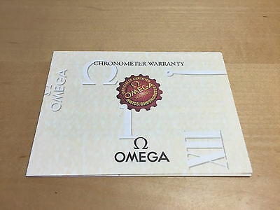 OMEGA Chronometer Warranty Booklet - Watches Relojes Montres - For Collectors