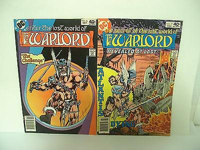 Enter the Lost World of the Warlord DC Comics #26-27 vintage comic book lot