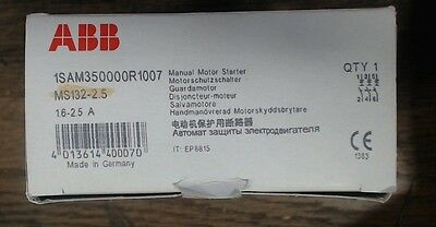 NIB ABB MS132-2.5 - 60 day warranty