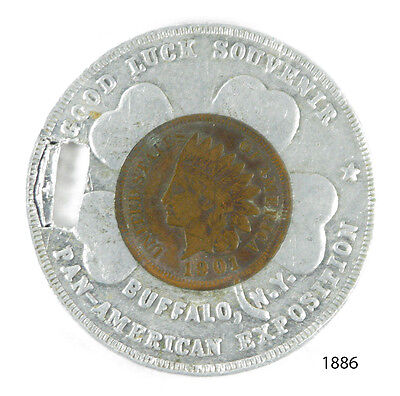 1901 Encased Indian Cent - Buffalo, Ny Pan-American Exposition (1886)