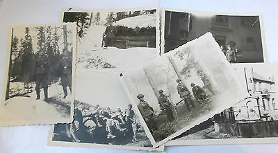 6 annotated snap shot photographs of german soldiers   including  lapland