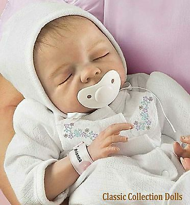 "Ashton Drake ""CHERISH""- LIFELIKE NEWBORN BABY DOLL-WITH PACI -NEW-IN STOCK NOW !"
