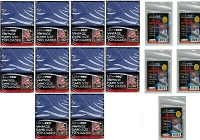 250 Ultra Pro Vintage Toploaders with Free Sleeves Free Shipping Top Loaders