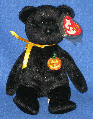 TY HAUNT the HALLOWEEN BEAR BEANIE BABY - MINT with MINT TAG