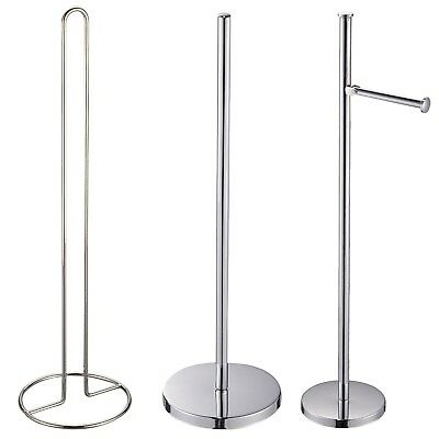 Free Standing Spare Toilet Roll Holders / Stands / Spikes / Storage | Chrome