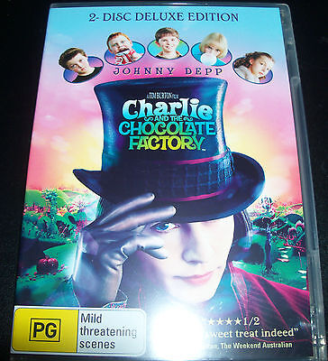 Charlie & The Chocolate Factory 2 Disc Deluxe Edition (Australian) Region 4 DVD