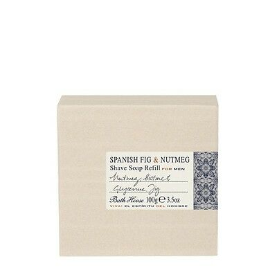 Bath House - Spanish Fig & Nutmeg - Shave Soap Refill 100g